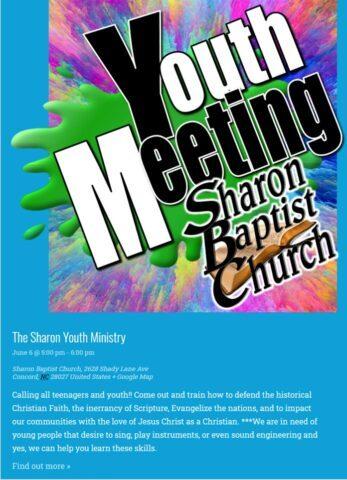 Youth Meetings Sundays 5pm