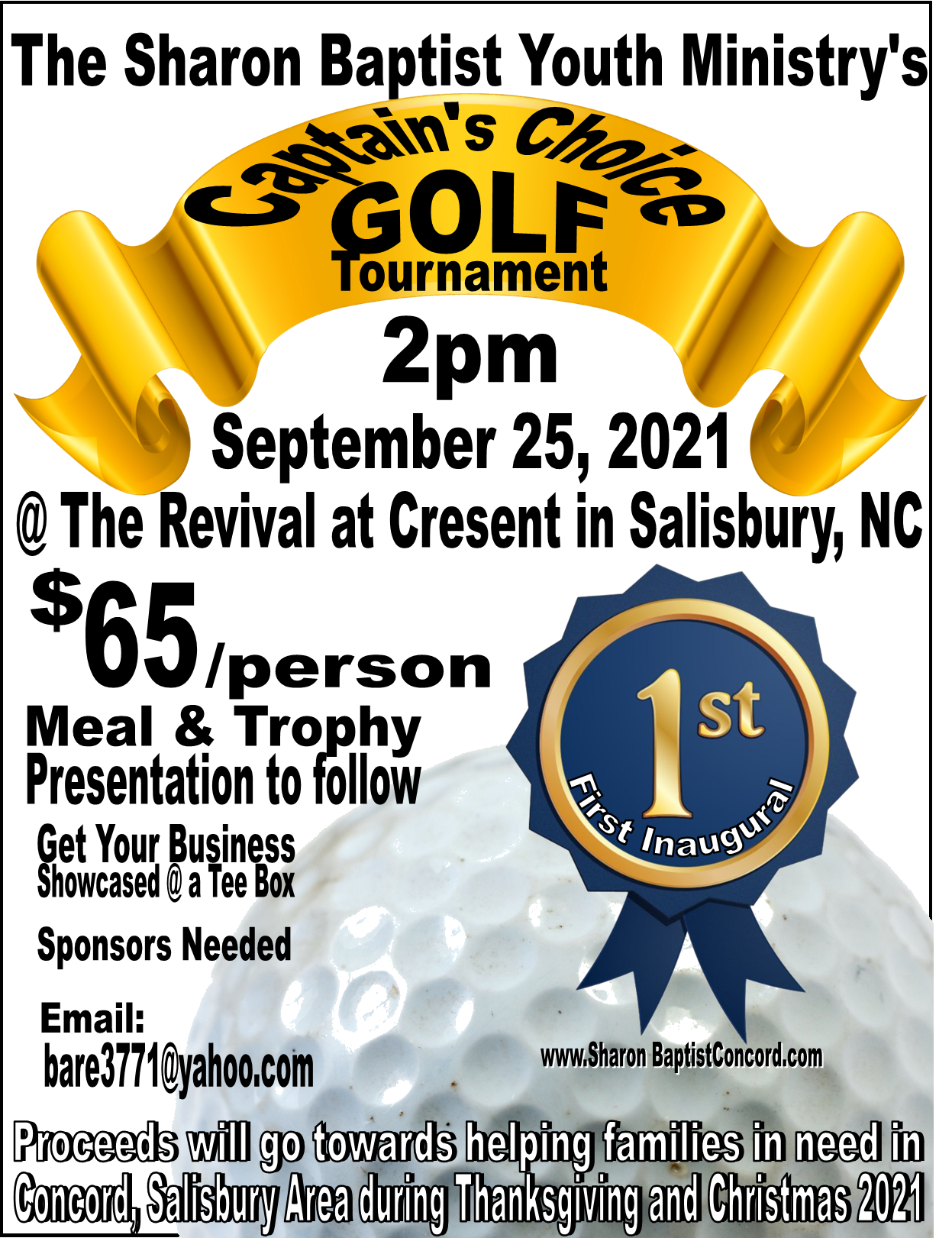 Sharon Youth Ministry Golf Tournament 2021
